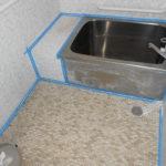 浴室のコーキング修理・タイル補修 奈良