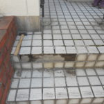 階段タイル修理(補修) 奈良市